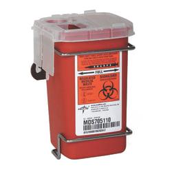 "Medline Multipurpose Biohazard Sharps Containers, 12 Quarts, 24"" x 20"" x 29 7/16"", Red, Case Of 12"