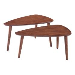 Zuo Modern Koah Nesting Coffee Tables, True Wedge, Walnut, Set Of 2 Tables