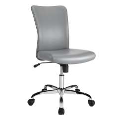Brenton Studio® Birklee Task Chair, Gray/Chrome