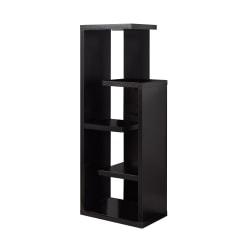 Monarch Specialties 5-Shelf Open-Concept Bookcase, Cappuccino