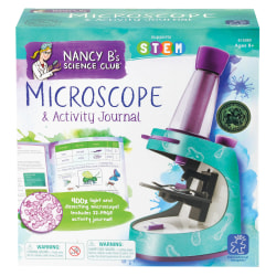 """Learning Resources® Nancy B's Science Club® Microscope And Activity Journal Set, 9""""H x 8 3/4""""W x 2 3/4""""D, Grades 3-7"""
