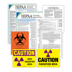 ComplyRight™ Healthcare Poster Set, English, Puerto Rico