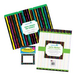 Barker Creek Get Organized Kit, Letter Size, Neon Stripe