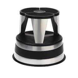 "Cramer® Kik-Step Steel 1-Step Rolling Step Stool, 350 Lb Capacity, 14"" x 15 5/8"", Silver"