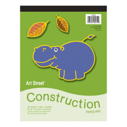 "Art Street® Construction Paper, 9"" x 12"", Assorted, Pad Of 48 Sheets"