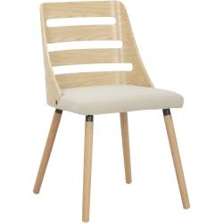 LumiSource Trevi Chair, Cream/Natural