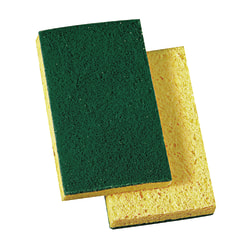 "Niagara™ Medium Duty Commercial Scrub Sponges, 74NCC, 6"" x 3 1/2"", Green, Pack of 10"