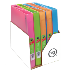 "Wilson Jones® Flex Poly Fashion 3-Ring Binder, 1"" Round Rings, Assorted Colors"