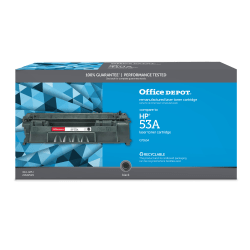 Office Depot® Brand OD53A Remanufactured Black Toner Cartridge Replacement For HP 53A