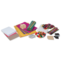 """Pacon Beginner Learn It By Art Makerspace Builder I Arts And Crafts Kit, 24""""H x 14""""W x 4""""D, Assorted Colors"""