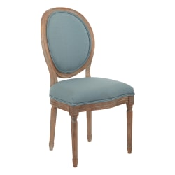 Ave Six Lillian Oval-Back Chair, Klein Sea/Light Brown