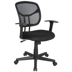 OFM Essentials Mesh Mid-Back Task Chair, Black