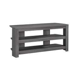 """Monarch Specialties TV Stand, 3-Shelf, For Flat-Panel TVs Up To 40"""", Gray"""