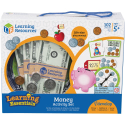 Learning Resources Money Activity Set - Theme/Subject: Learning - Skill Learning: Visual, Money, Addition, Subtraction, Making Change, Equivalence, Counting, Fine Motor, Problem Solving, Tactile Discrimination, Self-help - 4 Year & Up
