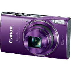 "Canon PowerShot 360 HS 20.2 Megapixel Compact Camera - Purple - 3"" LCD - 12x Optical Zoom - 4x Digital Zoom - Optical (IS) - 5184 x 3888 Image - 1920 x 1080 Video - HD Movie Mode - Wireless LAN"