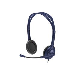 Logitech Headset - Stereo - Mini-phone - Wired - Binaural - Midnight Blue