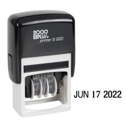 "2000 PLUS® Date Line Dater Light Duty Date Line Dater, 1-1/8"" x 1-1/4"" Impression, Black Ink"