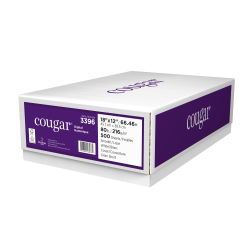 """Cougar® Digital Printing Paper, Tabloid Extra Size (18"""" x 12""""), 98 (U.S.) Brightness, 80 Lb Cover (216 gsm), FSC® Certified, Case Of 500 Sheets"""