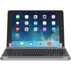 """Brydge BRY1012 Keyboard/Cover Case for 9.7"""" Apple iPad Air, iPad Air 2, iPad Pro, iPad (5th Generation), iPad (6th Generation) Tablet - Space Gray - Aluminum Body - 0.3"""" Height x 6.6"""" Width x 9.4"""" Depth"""