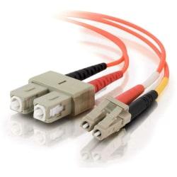 C2G 20m LC-SC 62.5/125 Duplex Multimode OM1 Fiber Cable - Orange - 66ft