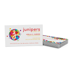Custom Full-Color Luxury Heavy Weight Color Core Business Cards, Black Core, Square Corners, 2-Sided, Box Of 50