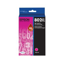 Epson® 802XL DuraBrite® Ultra High-Yield Magenta Ink Cartridge, T802XL320-S