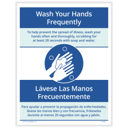 "ComplyRight™ Coronavirus And Health Safety Posting Notice, Wash Your Hands Frequently, 8-1/2"" x 11"""