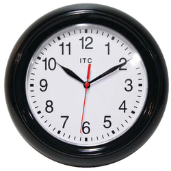 "Infinity Instruments ITC Focus Wall Clock, 10"", Black"