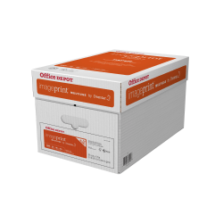 "Office Depot® Brand ImagePrint® Multi-Use Paper by Domtar, Letter Size (8-1/2"" x 11""), 98 (U.S.) Brightness, 20 Lb, FSC® Certified, Ream Of 500 Sheets, Case Of 10 Reams"