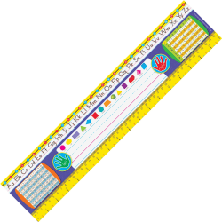 """Trend Gr 2-3 Desk Toppers Reference Name Plates - 3.75"""" Height x 18"""" Width x 16"""" Length - Multicolor - 36 / Pack"""