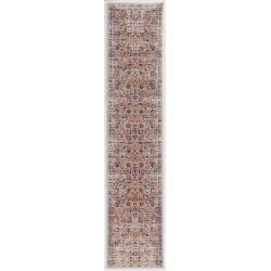 "Linon Home Decor Products Sinclair Area Rug, 144""H x 24""W, Josie, Ivory/Raspberry"