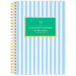 """AT-A-GLANCE® Emily Ley Simplified Academic Weekly/Monthly Planner, 5-1/2"""" x 8-1/2"""", 12 Months, July 2020 to June 2021, EL401-201A"""