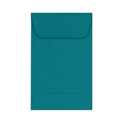 "LUX Coin Envelopes, #1, 2 1/4"" x 3 1/2"", Teal, Pack Of 500"