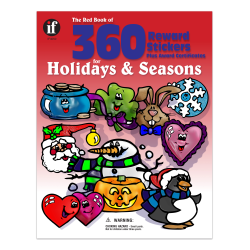 Instructional Fair Red Book Of Reward Stickers For Holidays and Seasons, 1 1/4'' x 1'', Multicolor