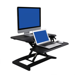 "FlexiSpot AlcoveRiser Sit-To-Stand Desk Converter, 28""W, Black"