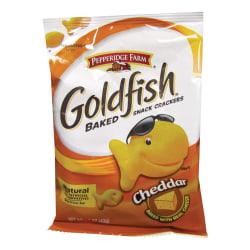 Pepperidge Farm® Goldfish® Baked Crackers, Cheddar, 1.5 Oz, Carton Of 72