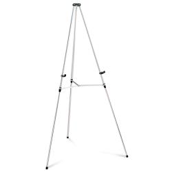 Quartet® Aluminum Lightweight Telescoping Display Easel, Silver