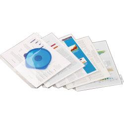 "Cardinal Poly Ring Binder Pockets - 11.3"" Height x 0.2"" Width x 9.5"" Length - 40 x Sheet Capacity - For Letter 9"" x 11"" Sheet - Ring Binder - Rectangular - Clear - Polypropylene - 1 / Pack"