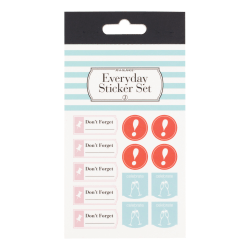 See Jane Work® Everyday Sticker Set, Assorted Colors, Pack Of 10 Sheets