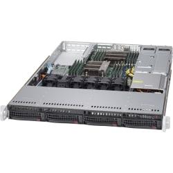 Supermicro SuperServer 6018R-WTR Barebone System - 1U Rack-mountable - Intel C612 Express Chipset - Socket LGA 2011-v3 - 2 x Processor Support - Black - 1 TB DDR4 SDRAM DDR4-2133/PC4-17000 Maximum RAM Support - Serial ATA/600 RAID Supported Controller