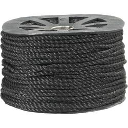 "Office Depot® Brand Twisted Polypropylene Rope, 1,150 Lb, 1/4"" x 600', Black"
