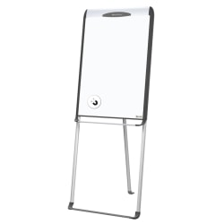 MasterVision™ Series Dry-Erase Magnetic Easel With Footbar, Black