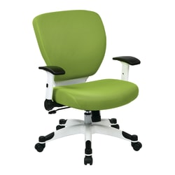 Office Star™ Space Seating Professional Deluxe Mesh Mid-Back Task Chair, Green/White