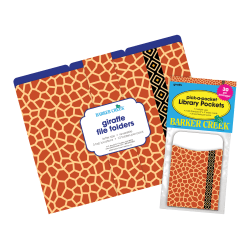 "Barker Creek Folder/Pocket Set, 9"" x 12"", Giraffe, Set of 42"