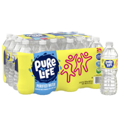 Nestlé® Pure Life® Purified Water, 16.9 Oz, Case of 24 Bottles