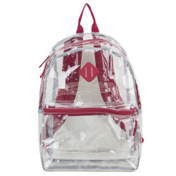 Eastsport Clear PVC Backpack, Red