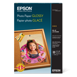 "Epson® Glossy Photo Paper, 13"" x 19"", Pack Of 20 Sheets"