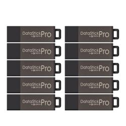 Centon DataStick Pro USB 2.0 Flash Drives, 4GB, Gray, Pack Of 10 Drives