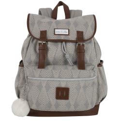 Trailmaker Travel Backpack, Gray/Brown