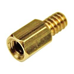StarTech.com 6-32 Brass Motherboard Standoffs for ATX Computer Case - 15 Pack - Standoff Screw - 6 - Hex - Hex - Brass - 15 / Pack - TAA Compliant